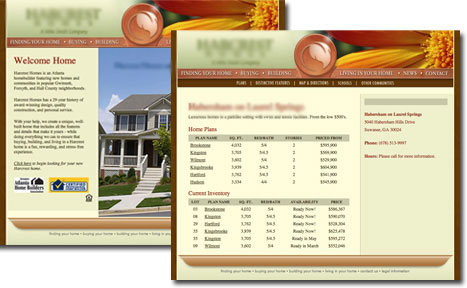 Harcrest Homes Web Site
